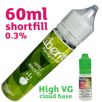60ml Apple Windfall 0.3% High VG